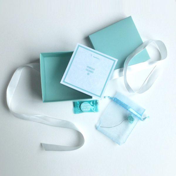 caja de regalo con sesión de masaje