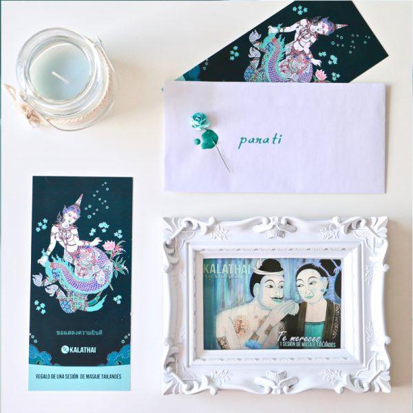 tarjeta de regalo con sobre